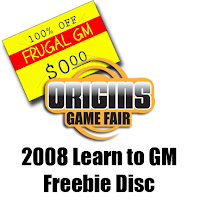 Free GM Resource: Origins 2008 Learn to GM Freebie Disc
