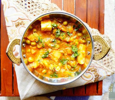 Aloo matar, aloo curry, Matar aloo sabji,Matar paneer,vegetarian recipes
