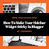 How to Make your Sidebar Widget Sticky in Blogger