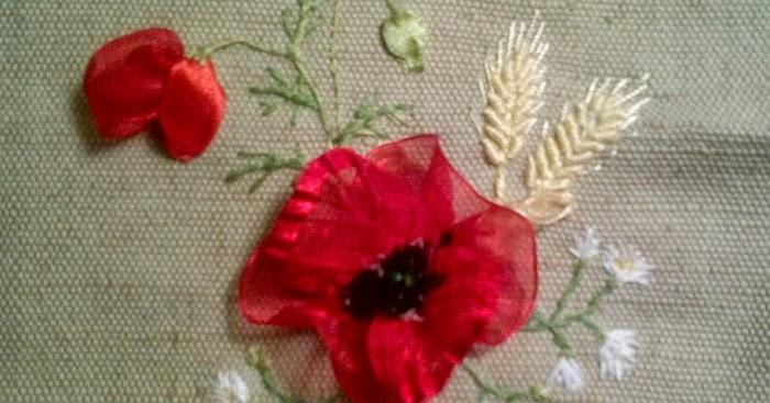 Вышиваем ромашки и колоски