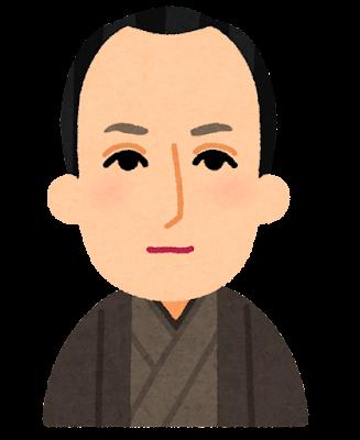 尾崎放哉の似顔絵イラスト