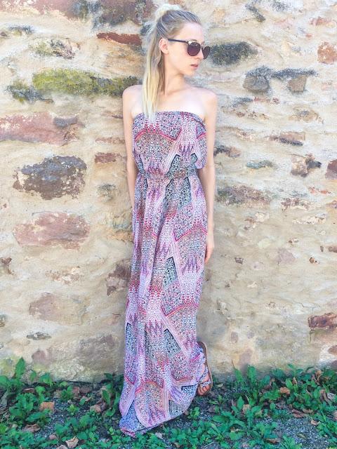 summer outfit tendance robe longue été 2017