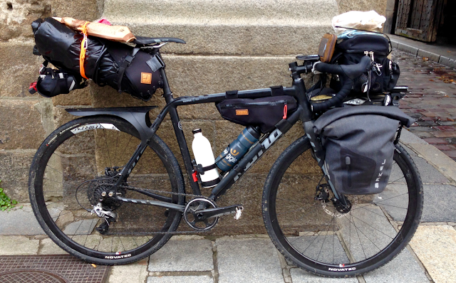 fully loaded bikepacking bike