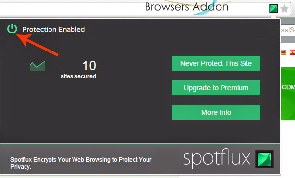 Spotflux-Lite-chrome-enable-disable-protection