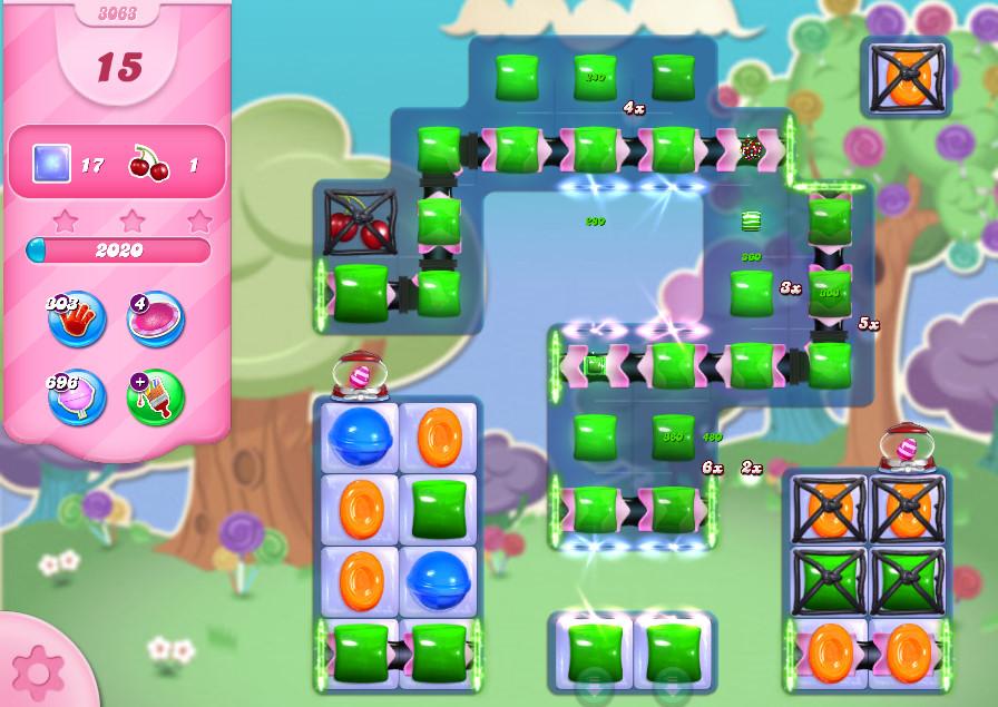Candy Crush Saga level 3063