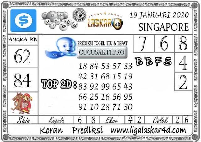 Prediksi Togel SINGAPORE LASKAR4D 19 JANUARI 2020