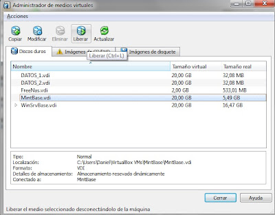 detalles discos virtualbox