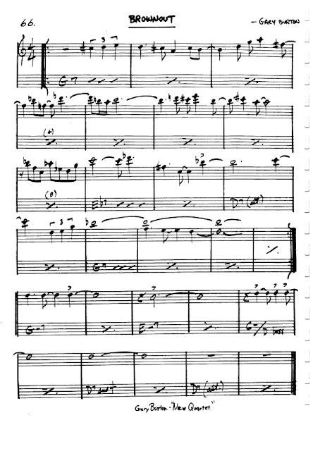 Partitura Flauta Gary Burton