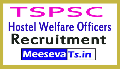 TSPSC Hostel Welfare Officers Recruitment Hall tickets, Exam date