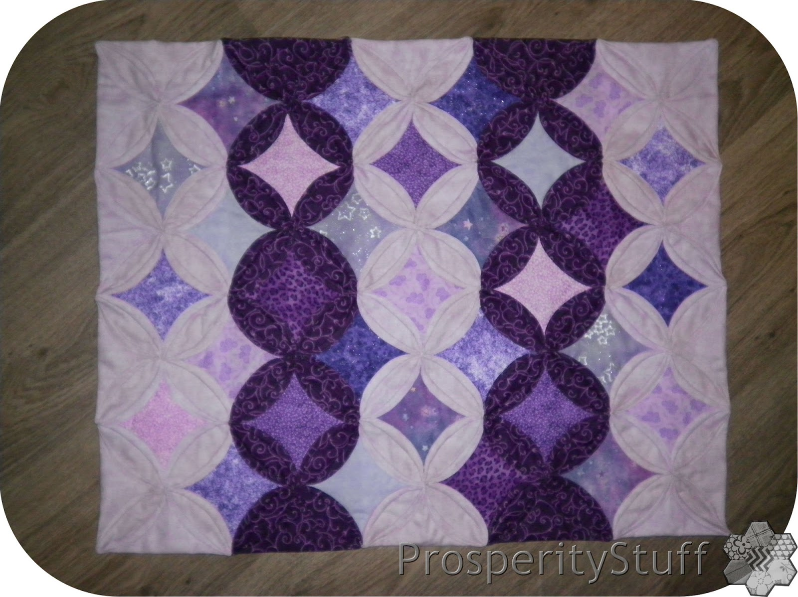 Prosperitystuff Quilts Cathedral Window Mini Quilt By