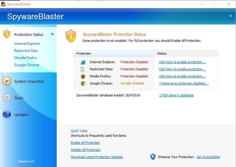 f7705c89124 SpywareBlaster - Το πιο ισχυρό πρόγραμμα προστασίας!