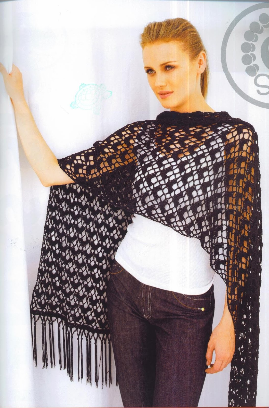Patrones Asgaya Chal Recto A Crochet
