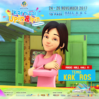 Mari berinteraksi dengan Kak Ros di Karnival Upin & Ipin 2017
