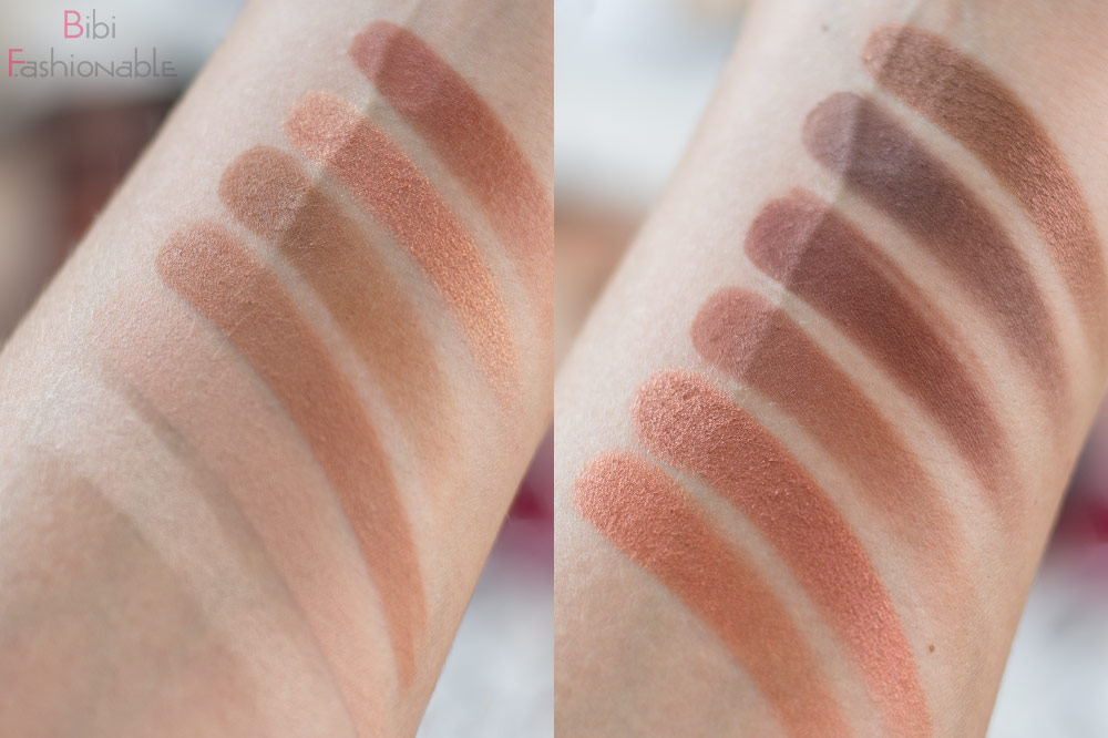 essence WANTED sunset dreamers eyeshadow palette Swatches