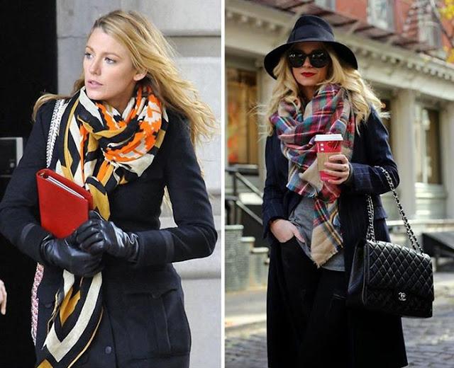 Como usar lenço famosas