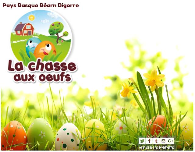 Chasse aux oeufs de Pâques Pyrénées 2018