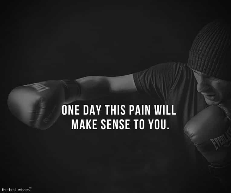 Inspirational quotes Image about overcoming Pain Picture