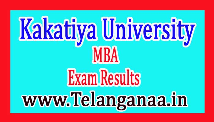 Kakatiya University KU MBA 2nd Sem Exam Results 2017
