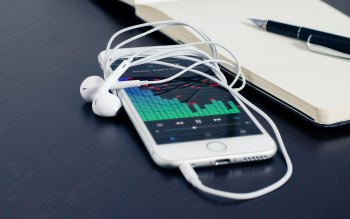 Wallpaper: Smartphone Headphones Music Technology
