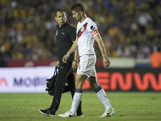 Dejó el partido ante Tigres a causa de la molestia.