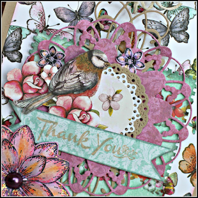 Thank You Oversized Tag featuring C'est Magnifique August Card Kit including Bohemian Collection by Dovecraft designed by Guest Designer Rhonda Van Ginkel