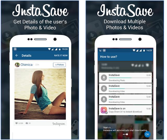 تطبيق InstaSave لتحميل الصور و الفيديوهات من على الانستجرام