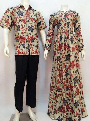 17+ Contoh Model Baju Gamis Batik Desain Terbaik 2018