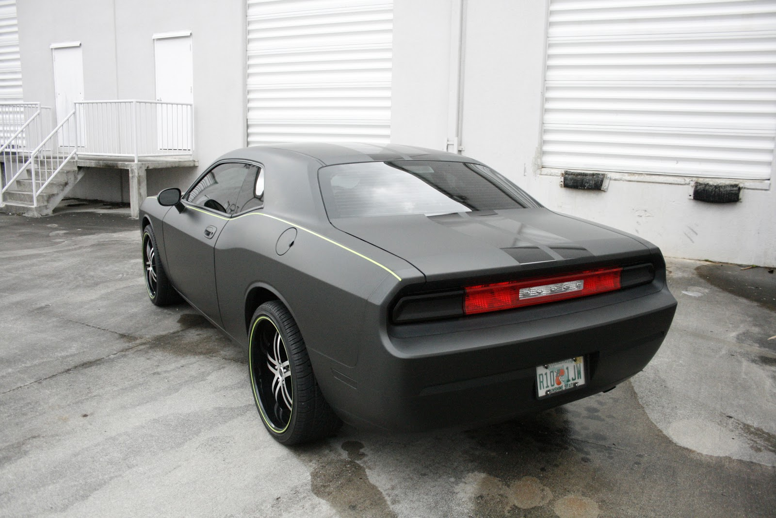 Dodge Challenger Fort Lauderdale Matte Black Car Wrap Car Wrap