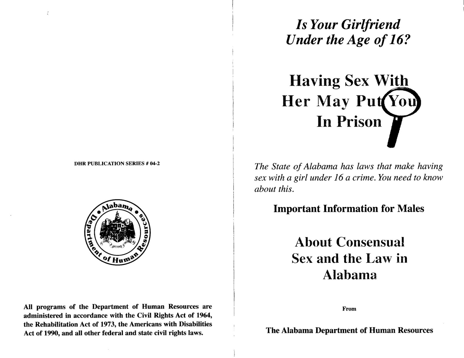 Alabama state law for consentual sex