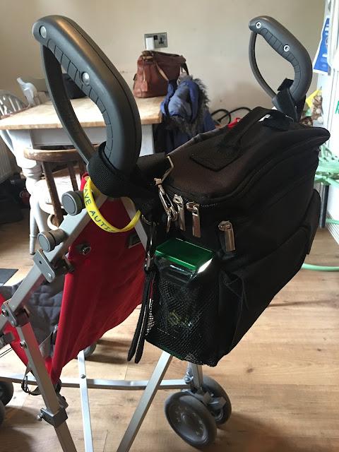 Bag attached to McClaren Major Elite SN stroller.
