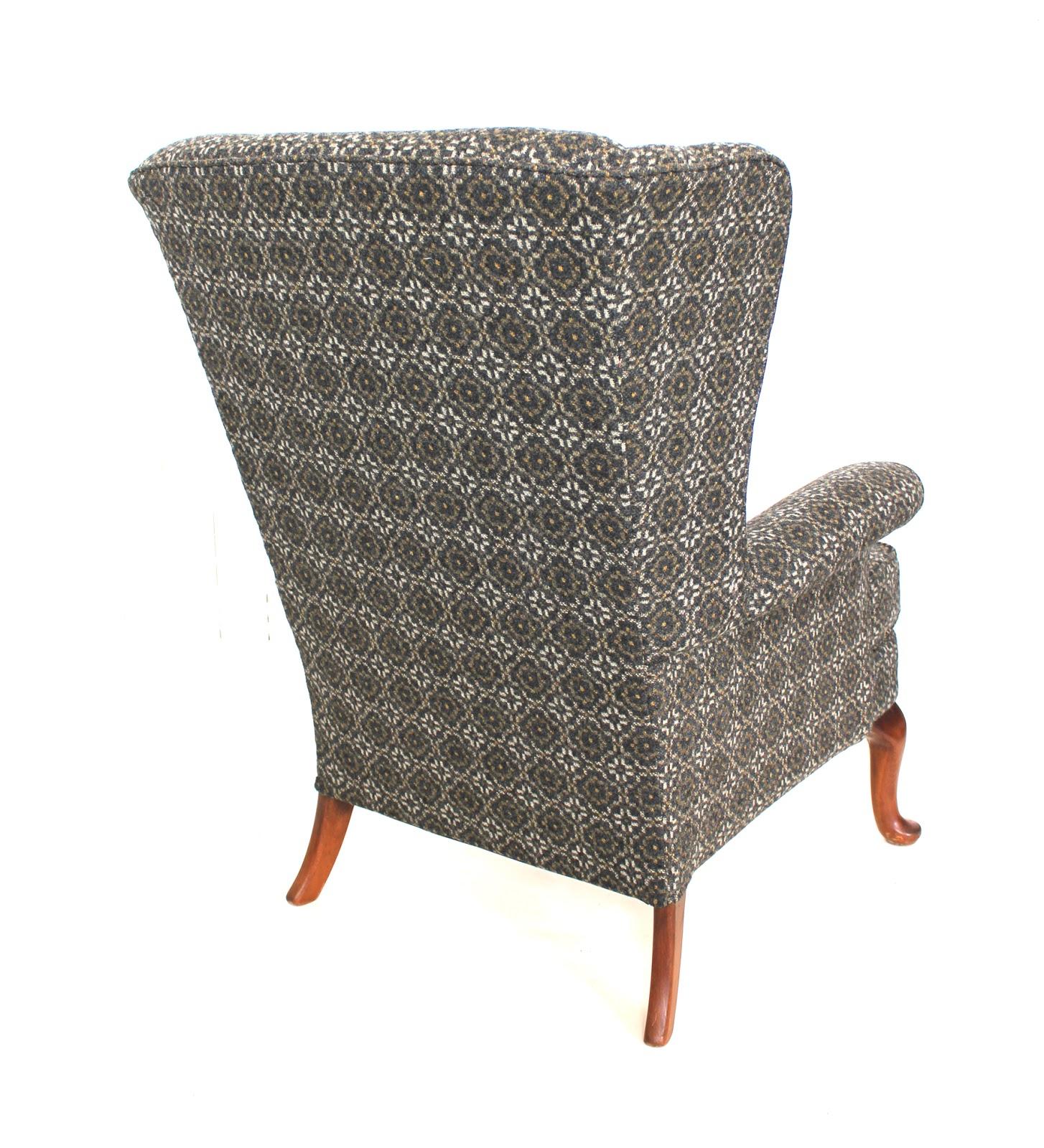 mick sheridan upholstery parker knoll armchair in melin tregwynt