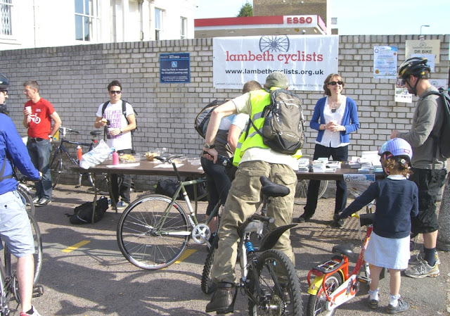 Lambeth Cyclists' Bike Breakfast on www.lambethcyclists.org.uk