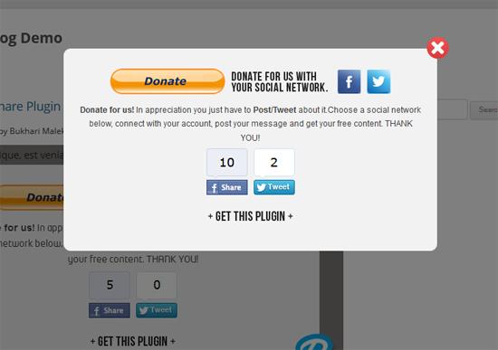 Widget Donate Dengan Fungsi Kongsi