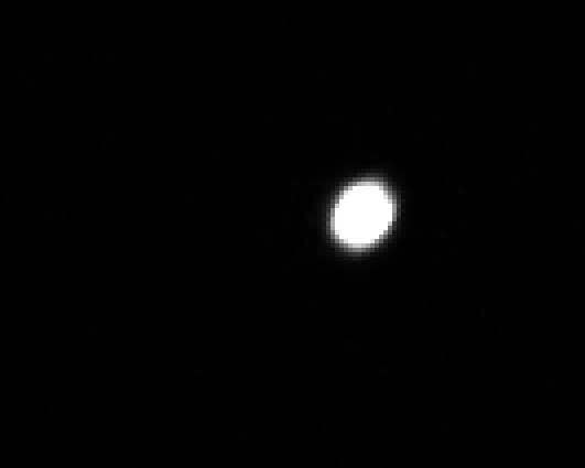 Fuzzy image of Jupiter with 600mm telephoto lens (Source: Palmia Observatory)