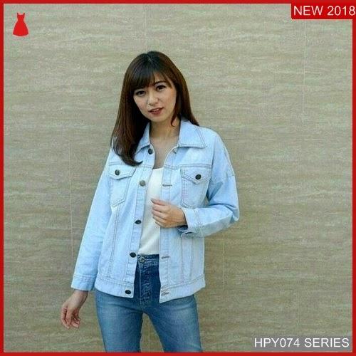 HPY074J160 Jaket Jeans Anak Oversized Murah BMGShop