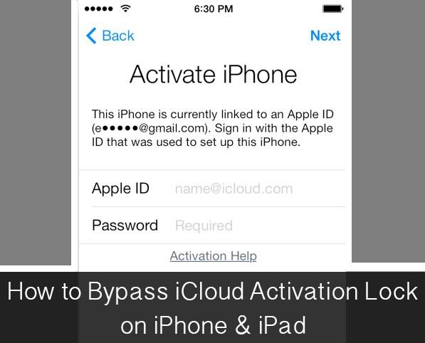 activation lock help screen