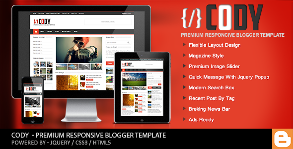 Download Free Cody Blogger Template | BloggersStand