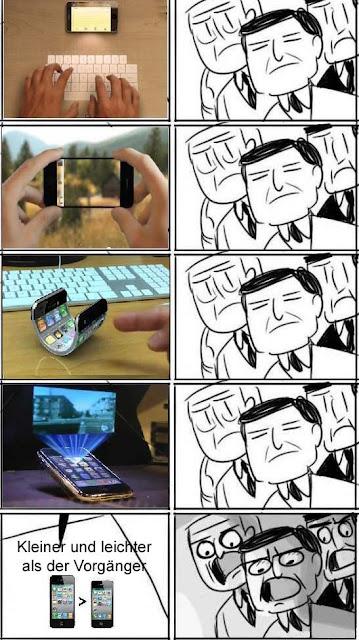 Smartphone Entwicklung und Innovation lustig