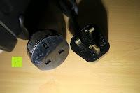 Stecker und Adapter: Andrew James – 23 Liter Mini Ofen und Grill mit 2 Kochplatten in Schwarz – 2900 Watt – 2 Jahre Garantie