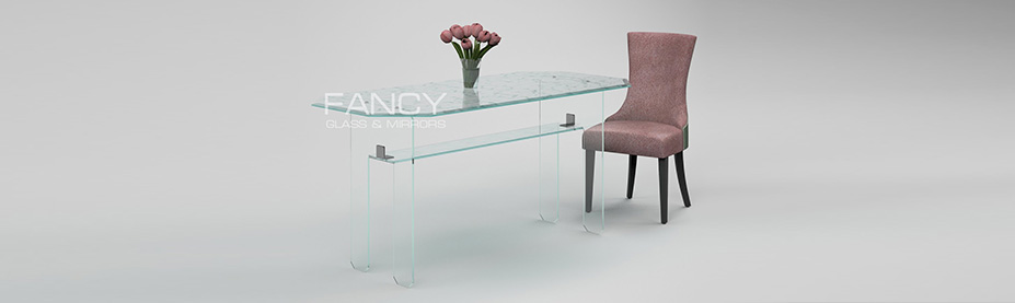 Rectangular dining glass table primavera