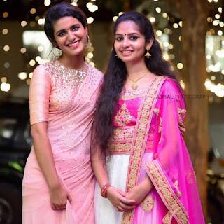 Priya Varrier Saree Pos 6