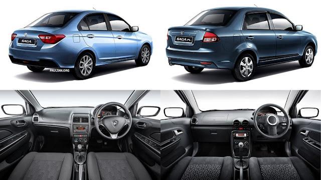 Proton Saga Baru 1.3L 2016/2017 vs Lama 1.3L FLX