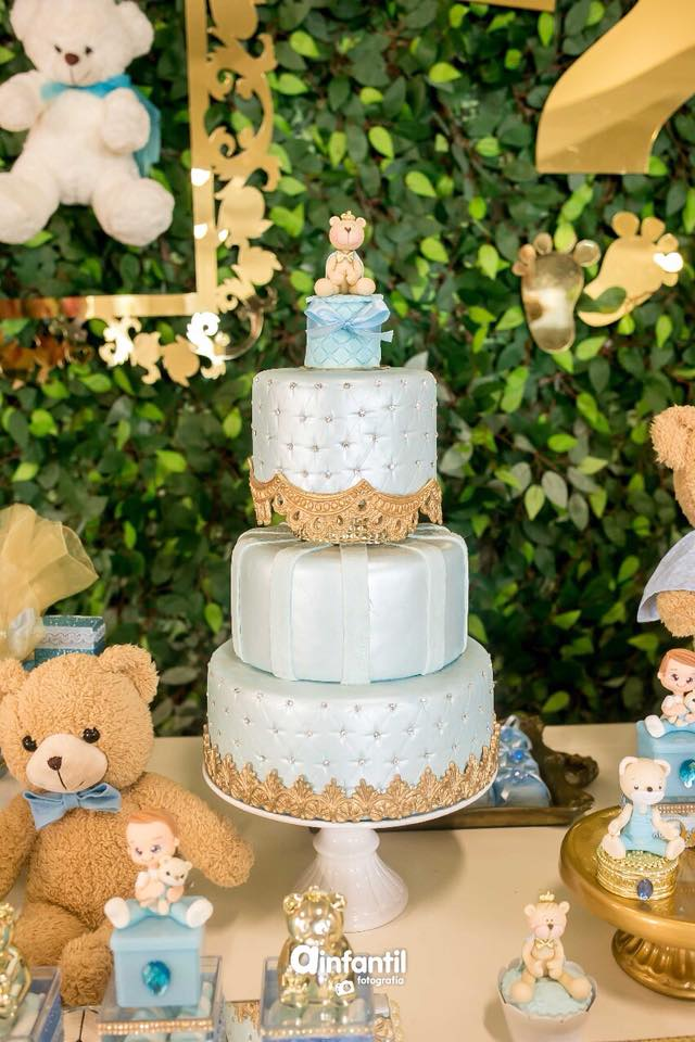 Chá De Bebê Revelação Com Muitos Ursos Guia Tudo Festa Blog De