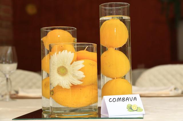 centrotavola matrimonio tema limoni