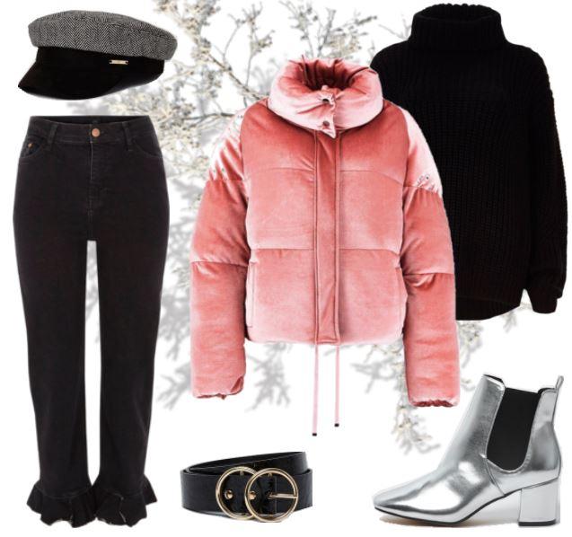 Puffer winterjas trend outfit inspiratie shop tip blogger look gewatteerde jas zilveren enkellaarzen Make people stare