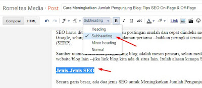 subheading subjudul heading tags