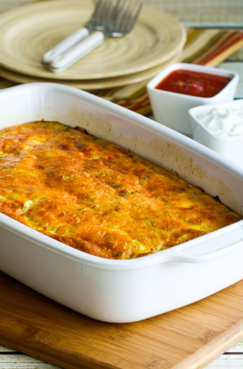Low-Carb Southwest Egg Casserole found on KalynsKitchen.com