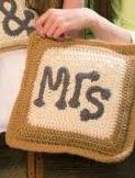 http://www.redheart.com/free-patterns/mr-mrs-pillows