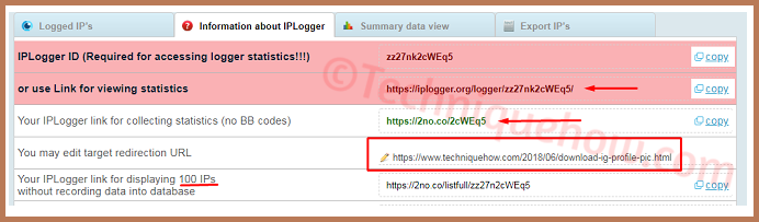 track location iplogger URL