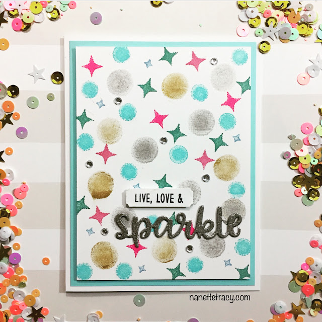 Sunny Studio Stamps: Born To Sparkle Customer Card Share by Nanette Tracy